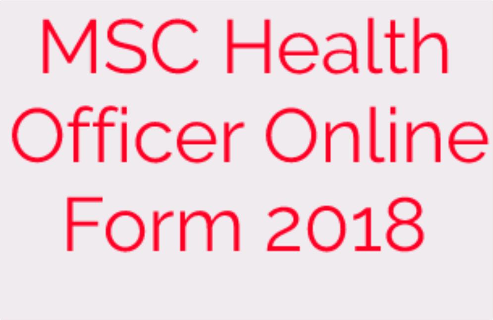 msc health officer