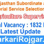 RSMSSB Agriculture Supervisor