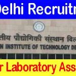 IIT Delhi Senior Laboratory Assistant
