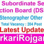 DSSSB LDC Stenographer Other Post