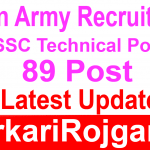 Indian Army Job SSC Technical