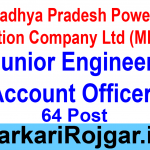 MPPGCL Junior Engineer Account Officer