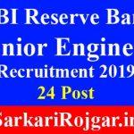 RBI Reserve Bank Junior Engineer
