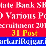 State Bank SBI SO Various Post