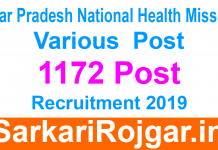UPNHM Recruitment Various 1172 Post