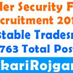 BSF Constable Tradesman Offline Form