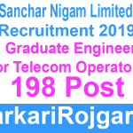 BSNL JTO Recruitment Apply Though Gate 2019