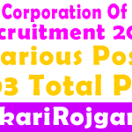 FCI Recruitment 2019 Various Post 4103