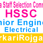 Haryana SSC Junior Engineer JE
