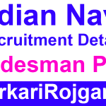 Indian Navy Tradesman