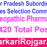 UPSSSC Homeopathic Pharmacist
