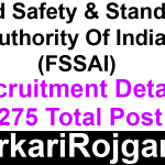 FSSAI Recruitment Various Post
