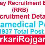 Railway RRB Paramedical