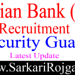 Indian Bank Security Gaurd