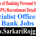 IBPS Specialist Officer IX
