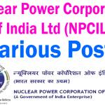 NPCIL Various Post