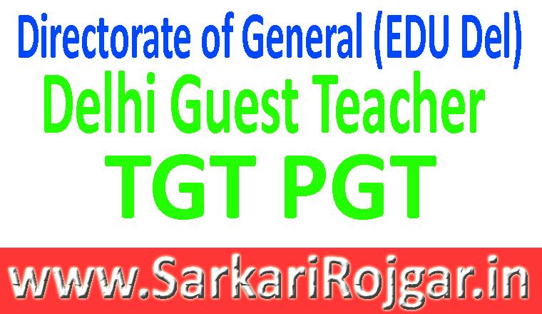 Delhi Guest Teacher TGT PGT